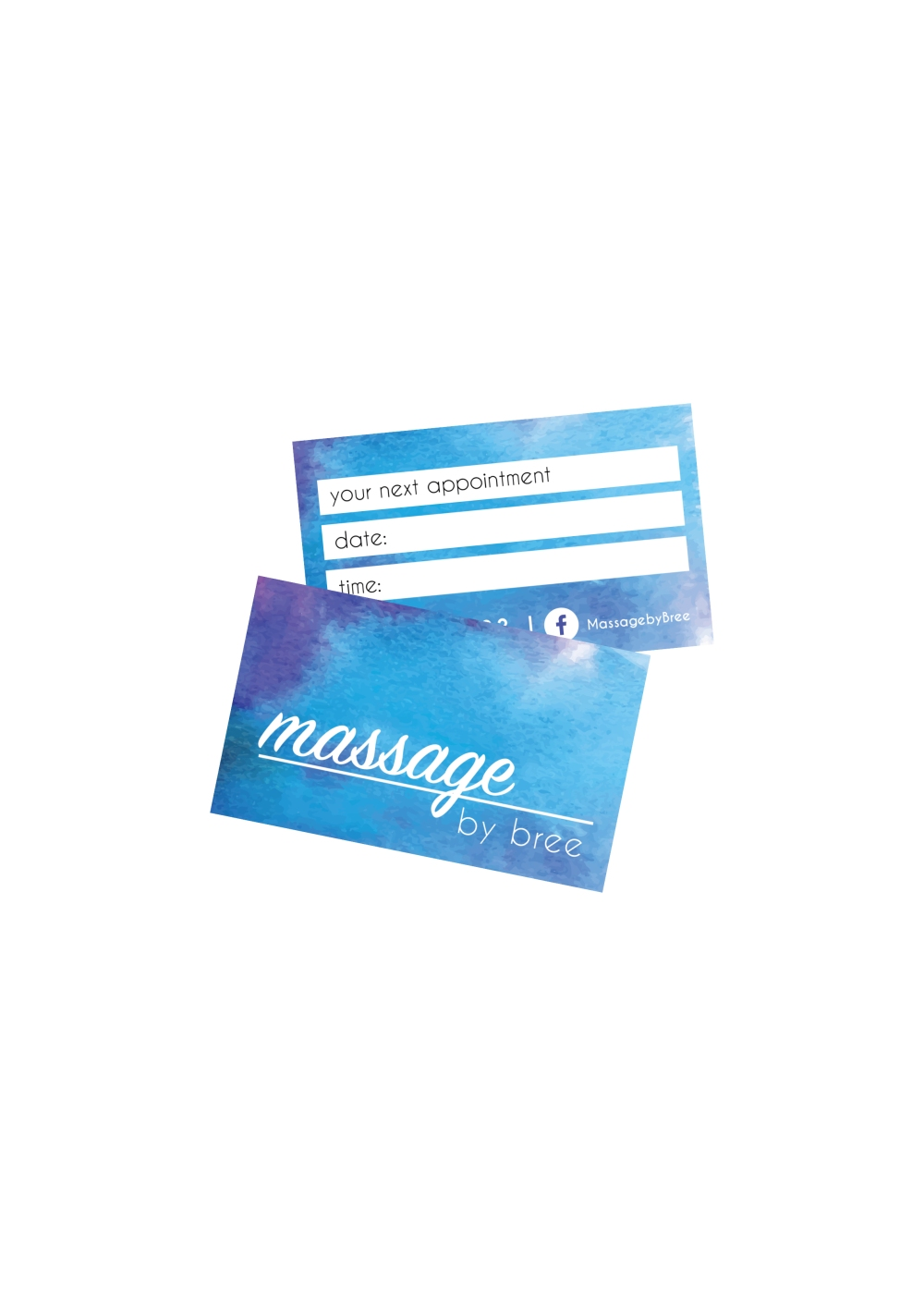 "Branding & Business Card Design for ""Massage by Bree"" – everything ..."